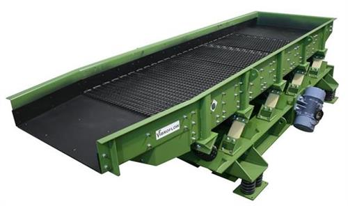 Vibrating screen for recycling.