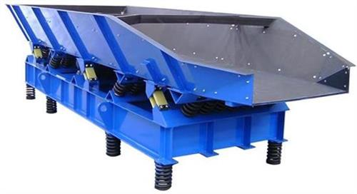 vibrating feeder with integral hopper
