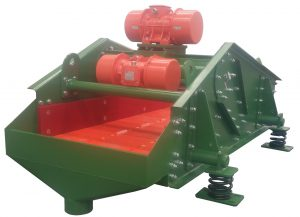 Vibrating dewatering screen.