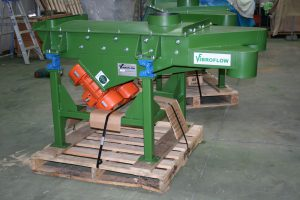 Pilot plant vibrating screens packaged.