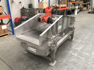 Stainless steel dewatering screen.