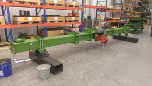 Testing of tubular vibrating conveyor.