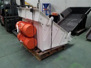 Zinc ore vibrating feeder packaged.